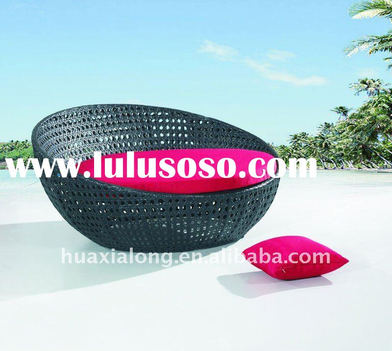 2012 Outdoor Patio Rattan Round Sofa Lounge Bed