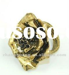 2012 fashion flowers gold ring jewelry