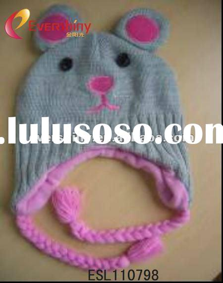 2012 fashion hot selling kids knitted animal hats