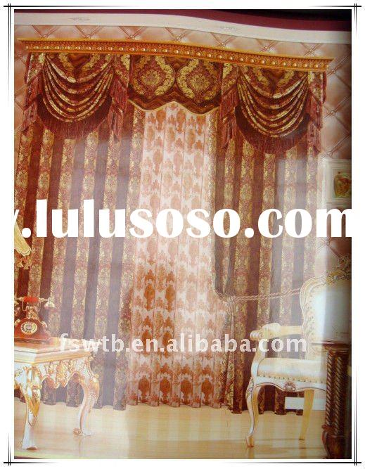 2012 hot sell curtains,polyester/cotton window curtain lace pattern