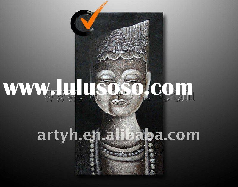 2012 hot selling canvas buddha art oil painting