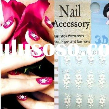 2012 newest 3D non-toxic nail sticker,safe nail seal with flower design (zy7-8061)