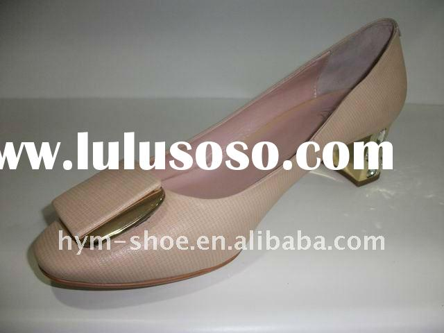 2012 popular designer genuine leather woman shoe