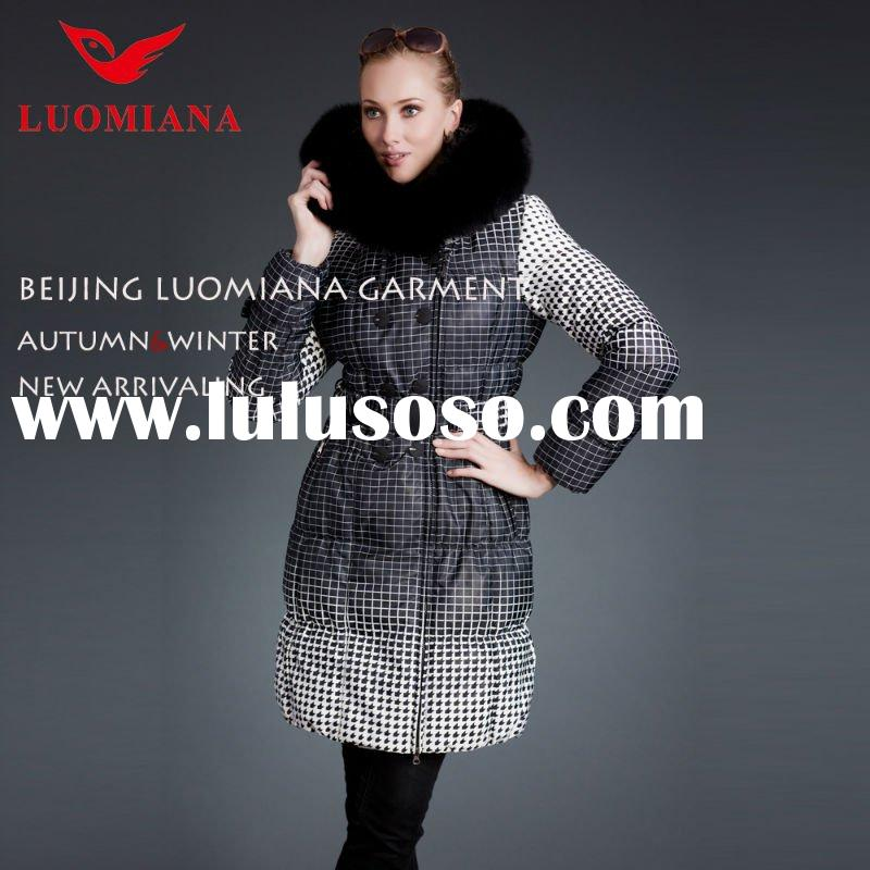 2012 womens winter fur hooded jackets