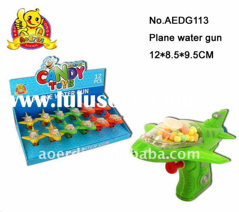 2012latest item--plane water gun plastic candy toy