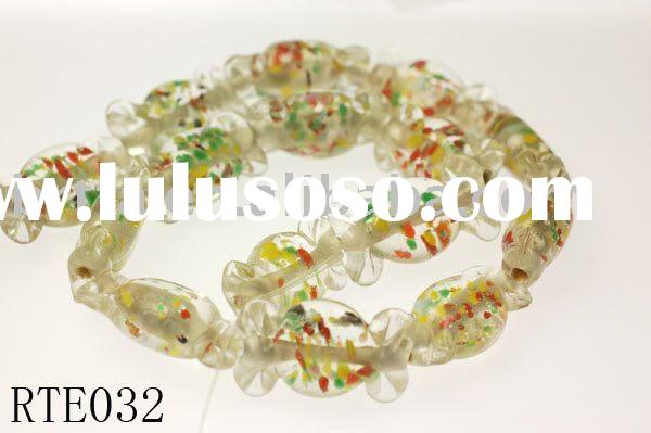 20 Handmade Lampwork Glass Candy Beads,christmas decoration