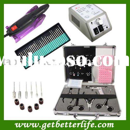 298 Electric Nail Drill manicure machine + Body Piercing Kit