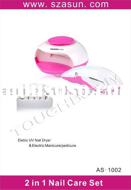2 in 1 Nail care set-Nail dryer & Electric manicure/pedicure