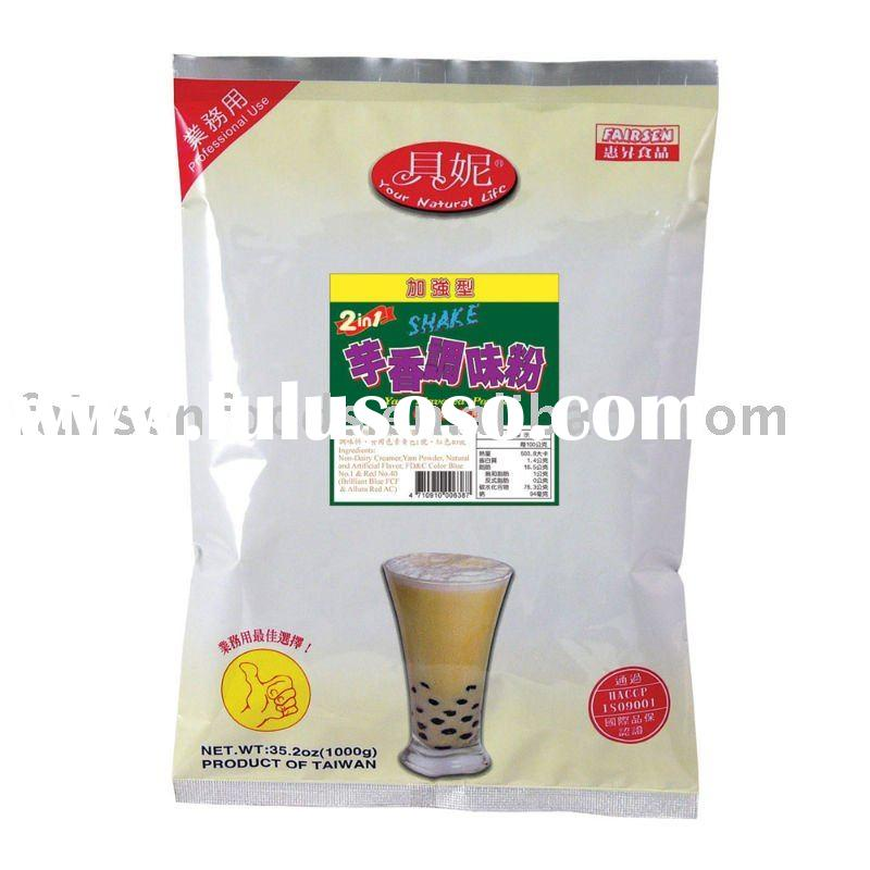 2 in 1 Yam Flavored Bubble Milk Tea Powder, Professional use for bubble tea powder