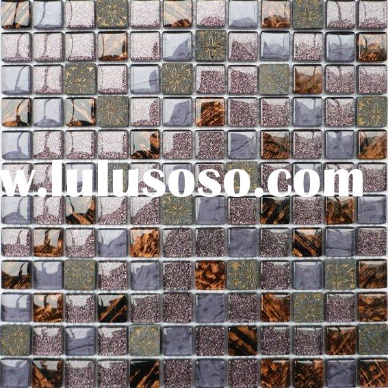 300X300 building material mixed color glass mosaic art