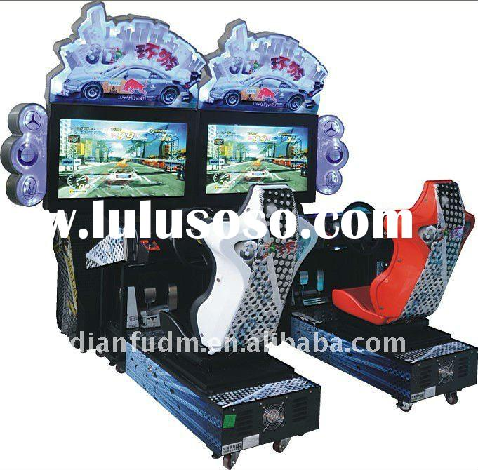 3D Outrun racing car driving arcade simulator game machine