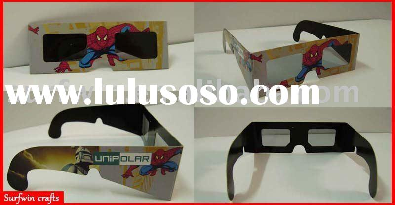 3D paper glasses movie