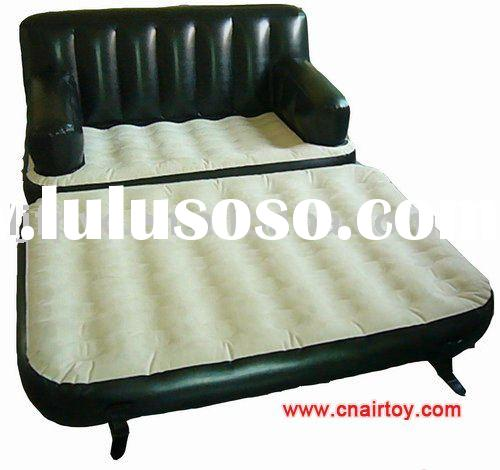5 in 1 sofa bed Flocked air bed,inflatable PVC Nylon bed,camping self-inflatable mattress