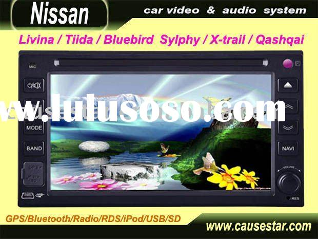 6.2 inch Car DVD Player for livina/tiida/bluebird sylphy/x-trail/qashqai