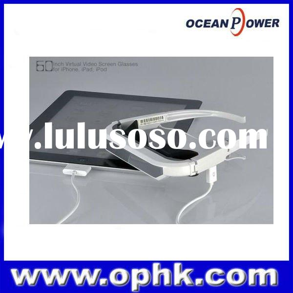 """72"""" video glasses for ipad ,ipod,iphone 3d full hd white color wholesale"""