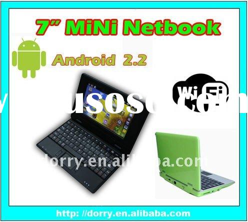 "7"" laptop VIA8650 800MHz 256RAM/2G WIN CE 6.0/android 2.2/notebook computer/laptop notebook/not"