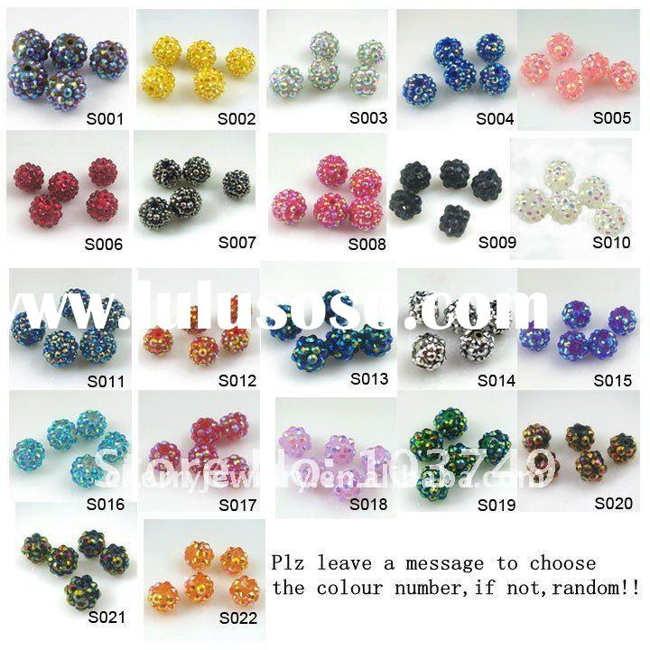 8-16mm 200pcs shamballa beads shamballa disco ball beads resin crystal beads Free shipping