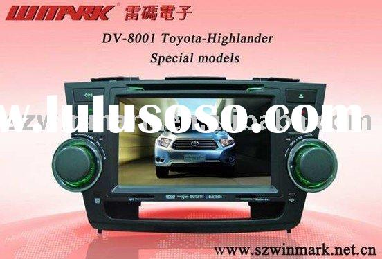 "8"" car dvd with gps car electronics car video player for toyota highlander"