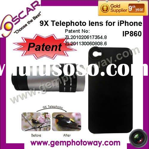 9X telephoto lens mobile phone accessory IP860 lens for iPhone color contact lens