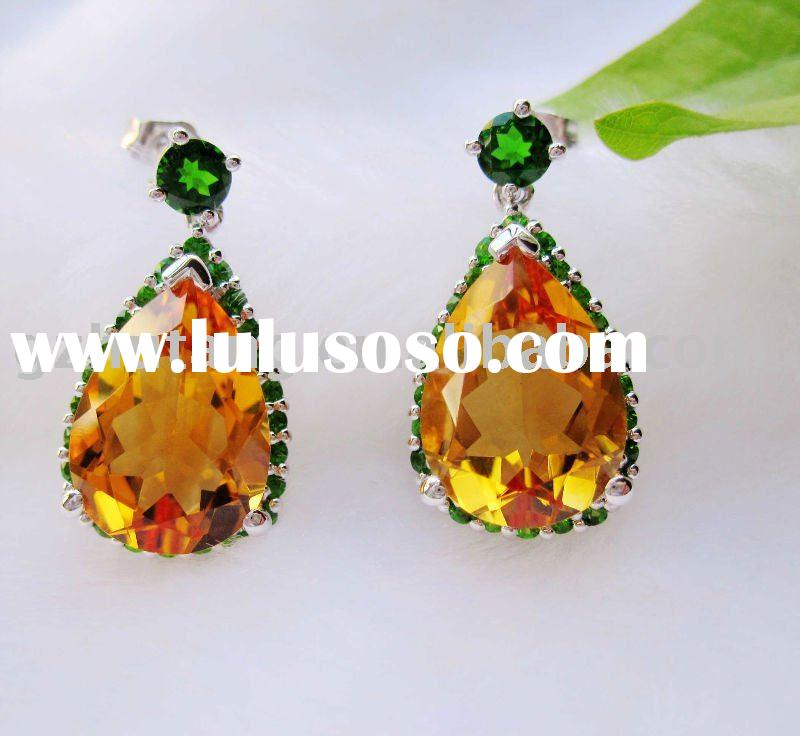 A wide range of Silver Jewelry with Genuine Gemstones in .925 Sterling Silver....