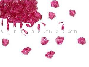 Acrylic Ice Crystal For Wedding Party Vase Fillers Fuschia