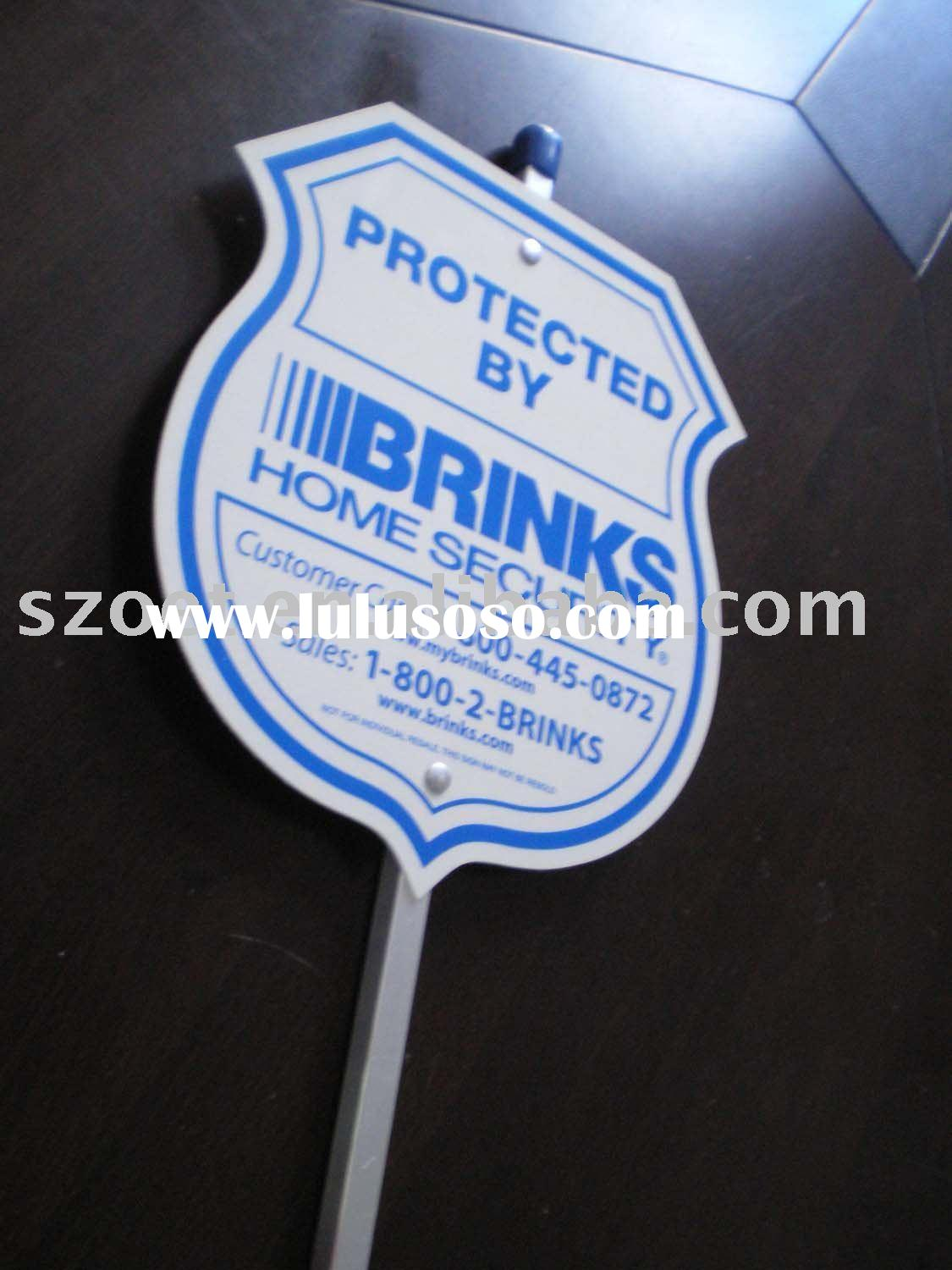 Advertising PVC board with aluminum pole and customized design