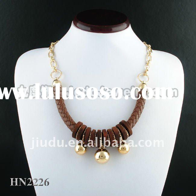 African classical big CCB bead long necklace