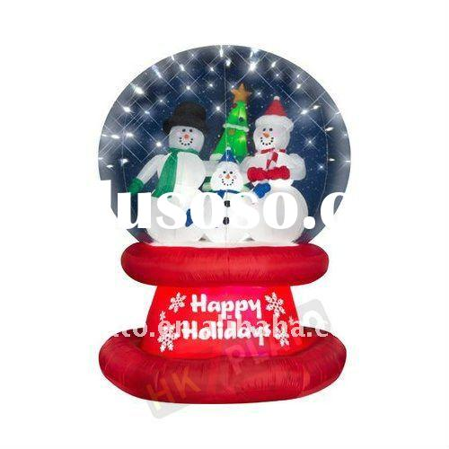 Airblown Christmas inflatable snow globe light up the yard!