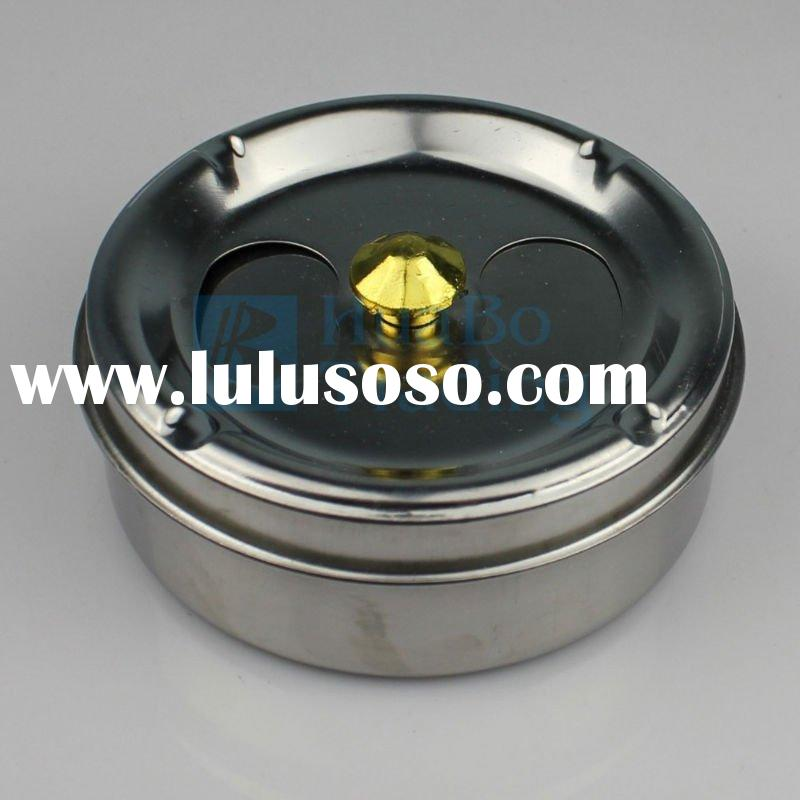 Aluminum Ashtray With Cover Silver