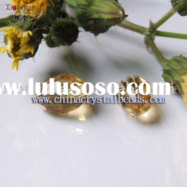 Amber color glass beads