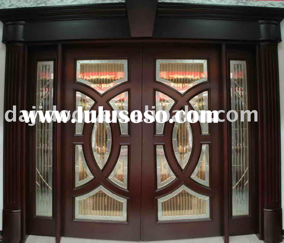 Wrought Iron Solid Wood Entrance Door Dj S8194 For Sale