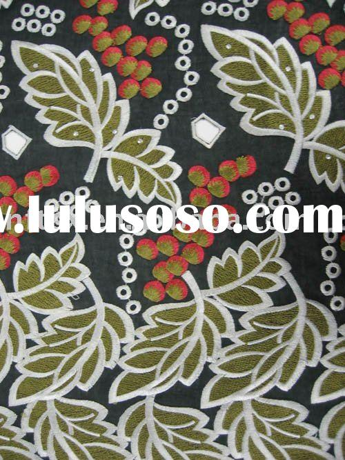 April New designs !!! Swiss Voile Lace,embroidery lace DF036 with reshinestones ,wholesale and retai