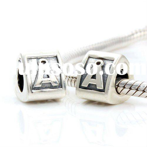 Authentic 925 Sterling Silver Alphabet Letter bead charms