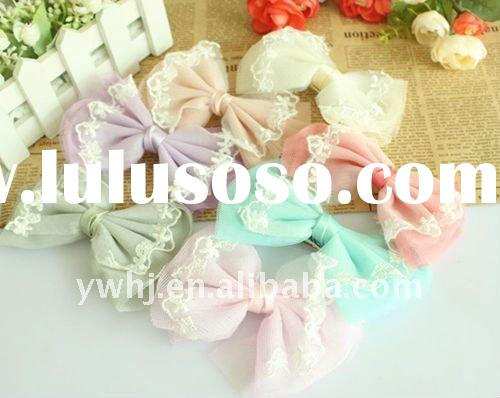 BIG BIG LACE BOWKNOT Bow-Tie HAIR CLIPS