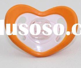 Baby heart shape funny cute cheap plastic infant silicone pacifier soother
