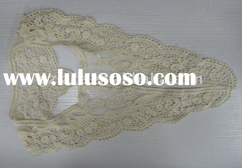 Beautiful!! cotton lace, water-soluble swiss cotton lace fabric L16,high quality