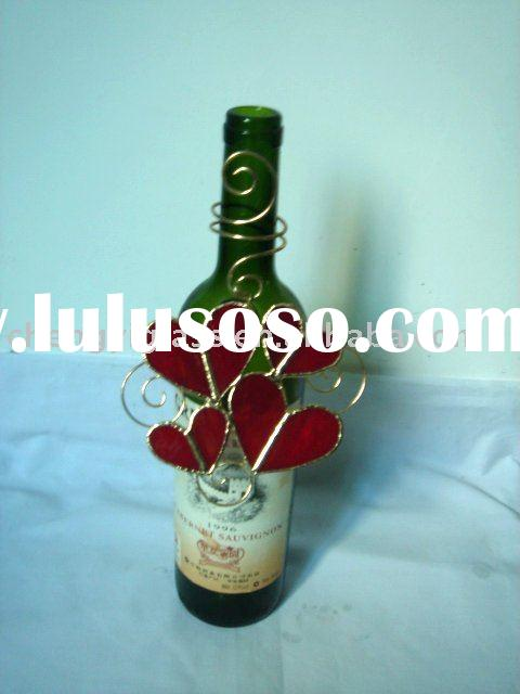 Beautiful stained glass wine bottle decoration