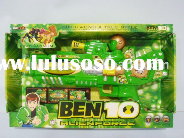 Ben10 b/o music gun with color light, plastic toys