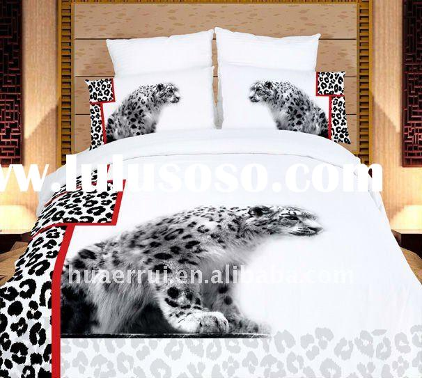 Black/White Panther printed Bedding set/Bed Sheet