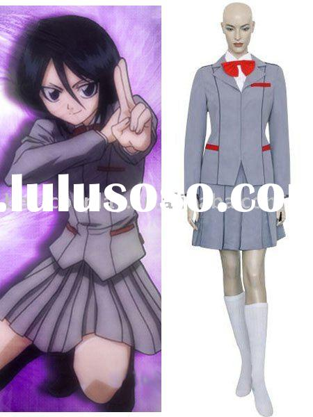 Bleach Kuchiki Rukia School Uniform Cosplay Costume
