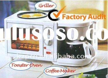 Breakfast Machine(3 in 1 multifunctional bread toaster oven.coffee maker.frying pan )