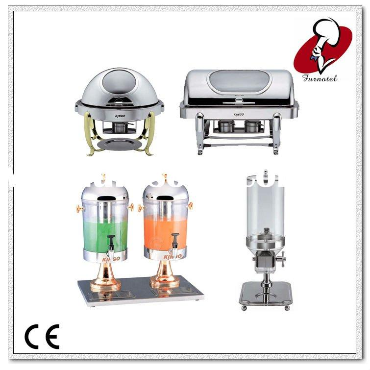Buffet equipment of five star bava sphere glass chafing for Equipement hotel