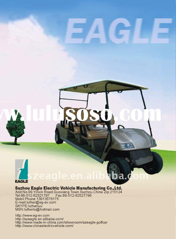 CE approved six seats pure electric golf buggy (EG2068K,6-person)