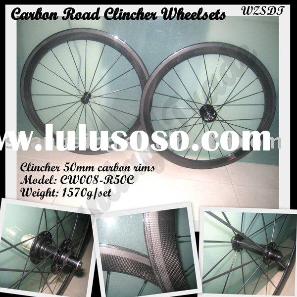 Carbon Road Clincher 50mm Bicycle Wheelsets,WH-50C