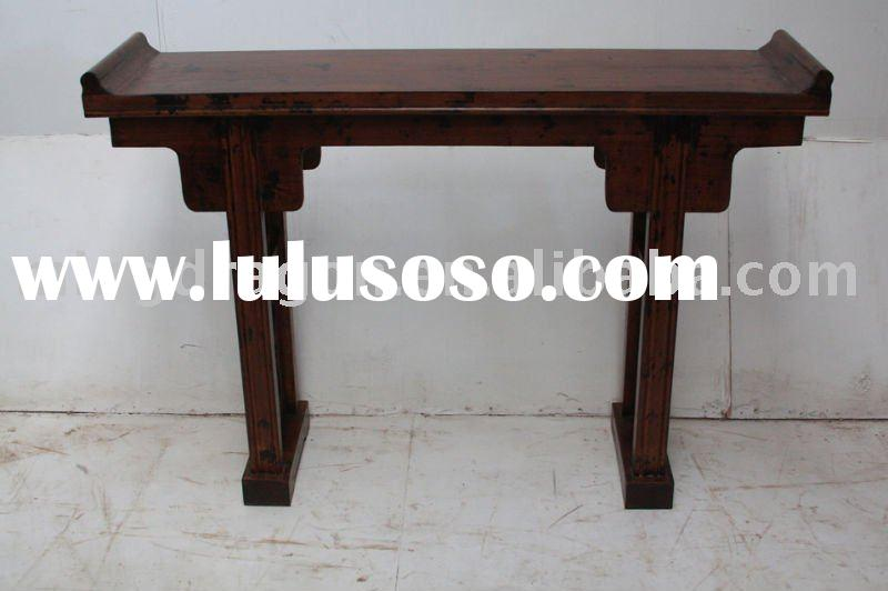Chinese antique beautiful wooden narrow altar table