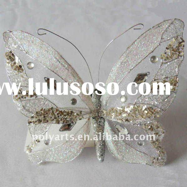 Christmas ornament glitter butterfly