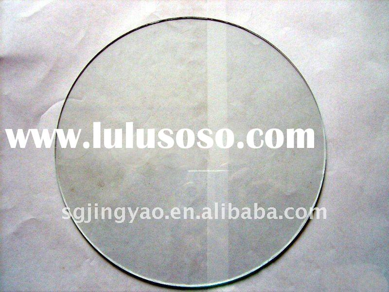 Clear round glass for picture frames