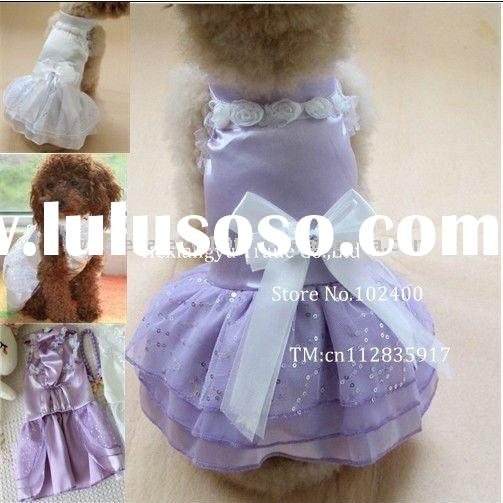 Color In White Purple Pink Cute Cat Dog Party Wedding Dress Dog Clothes And Accessory Accept Paypal