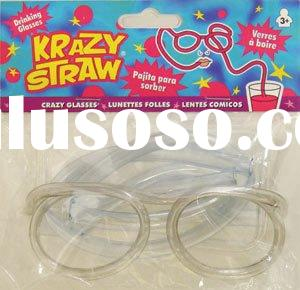 Crazy Straw Glasses Party Drinking Fun Novelty Gifts