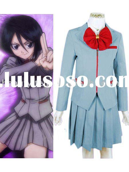 Custom-made Kuchiki Rukia School Uniform Cosplay Costume from Bleach